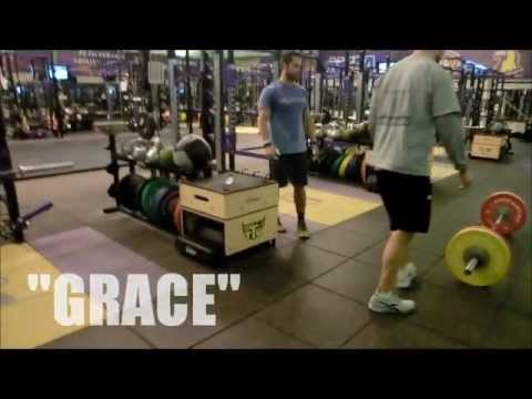 Rich Froning Jr. does CrossFit workout Grace with 225#, 11/2011.