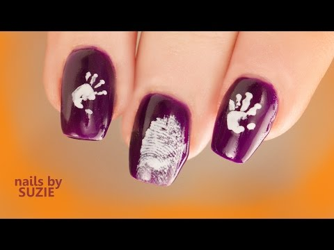 Grant Gets Halloween Hand and Finger Print Nails