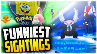 Pokemon Go - The Top 5 FUNNIEST Pokemon Go Sightings! (Funny Pokestops + Pokemon Go Fails!)