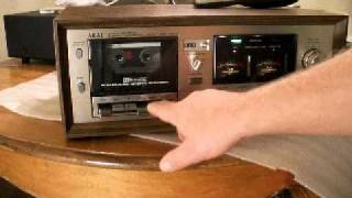 AKAI CS 732D Cassette Deck with QUICK REVERSE using Light Optics. ZCUCKOO