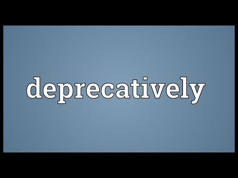 Header of deprecatively