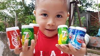 장난감과 색 학습 노래가있는 재밌는 애들 Candy magic
