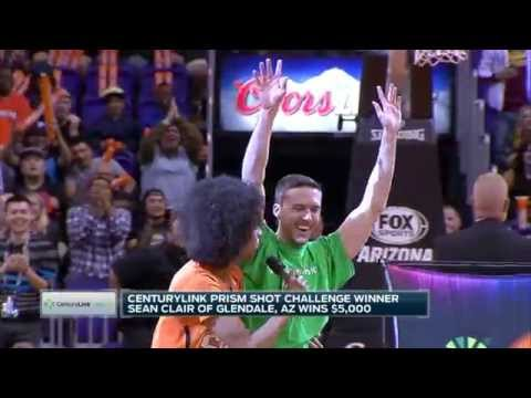 Lucky Fan Wins $5000 in Shot Challenge During Suns Halftime