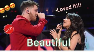 Bazzi & Camila Cabello - Beautiful (Live At iHeart Jingle Ball) (Reaction) with my sister