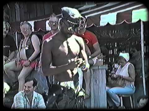 Gay Leather Fantasia Runway Show Teaser - Ice Palace Pool 1986 video