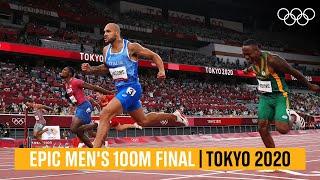Marcell Jacobs wins men's 100m final