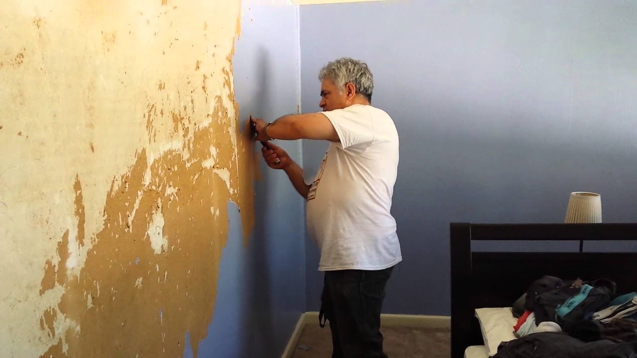how to remove wallpaper that was painted over wallpaper