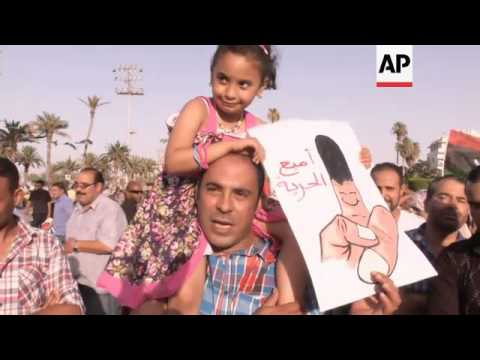 Tripoli residents celebrate polls closing