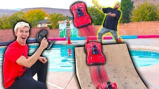 RC CAR POOL JUMP!!