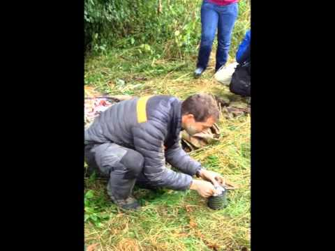 Making fire with Bear Grylls