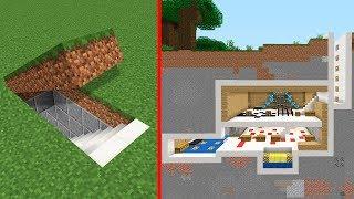 Minecraft   Como construir una Base Secreta Moderna Tutorial (Casa Escondida)