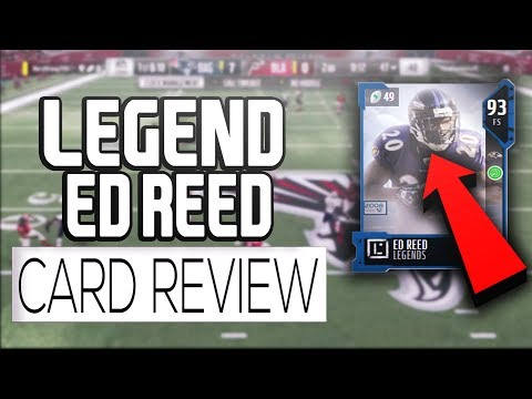 LEGEND ED REED 94 OVERALL CARD REVIEW!!! HOW GOOD IS HE???  MADDEN 18 ULTIMATE TEAM