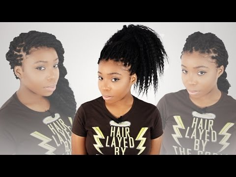 How To Style 3 Hairstyles For Individual Tree Braids Step By Step Tutorial Part 6 of 7