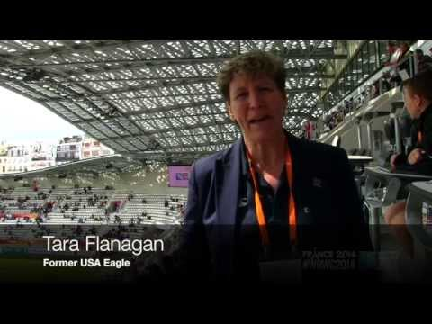 WRWC 2014 - USA Women's Eagles vs New Zealand Game 5: Half-Time Report with Tara Flanagan