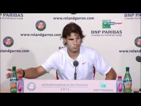 Nadal Happy With Form - Roland Garros 2012 - Day 5