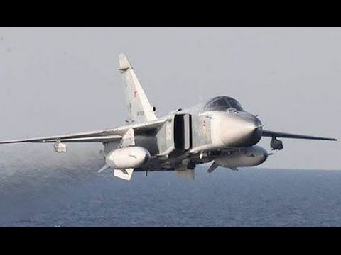 US NAVY SHIP INCOUNTERS Rus Su-24 Aircraft Flying VERY CLOSE to US Navy Ship in Baltic Sea