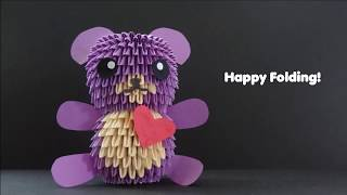 3d Origami Teddy Bear Tutorial (small)