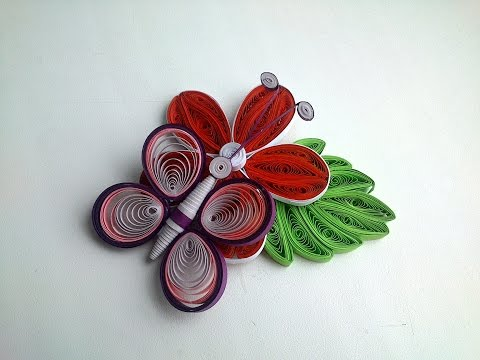 3D quilling How to Make 3D Quilling Butterfly - Quilling Tutorial