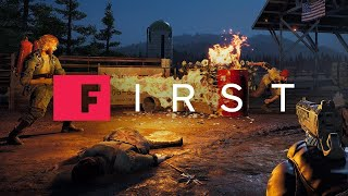Far Cry 5: Sneaking, Sniping, and Blasting Through an Outpost [4K] - IGN First