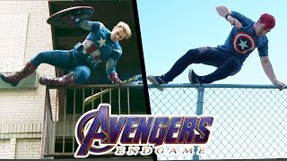 Stunts from Avengers EndGame In Real Life (Marvel, Parkour)