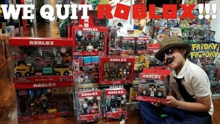 WE QUIT ROBLOX! Final Opening! New Roblox Sets! Shopping & Saying Goodbye! Friday Freeday #67
