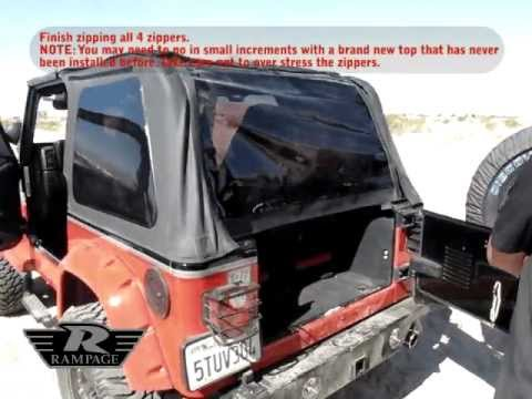 How To Install A Rampage Products Frameless Trail Top