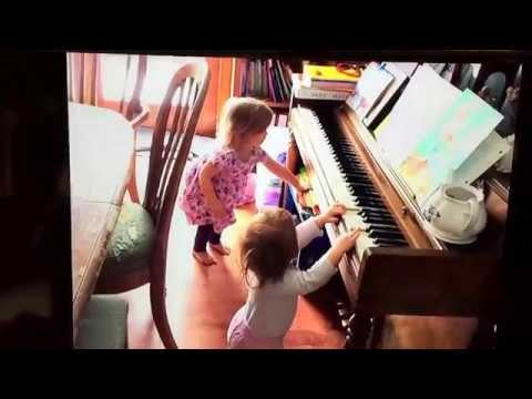 Ruthie and Phoebe, Concert Pianists in the making!