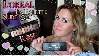 ОБЗОР палетки L`oreal La Pallete NUDE 01 Rose/REVIEW/Бюджетная замена NAKED/Sweetysweet Mari
