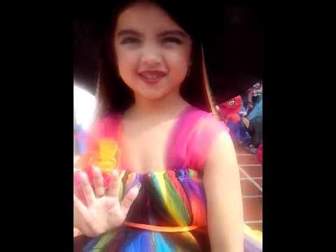 Isabella fue la ganadora del premio al mejor disfraz en el Jardín Infantil Aluna#DíaDeLosNiños