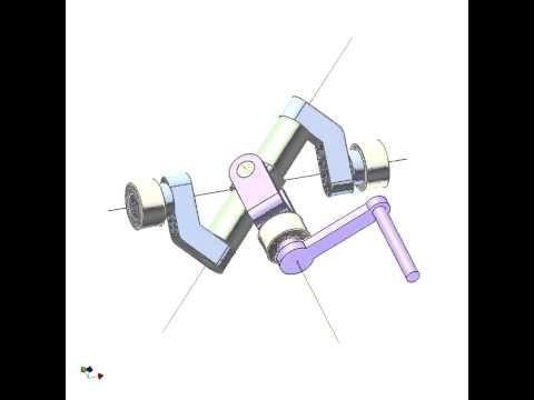 Spherical 4-bar linkage mechanism 6