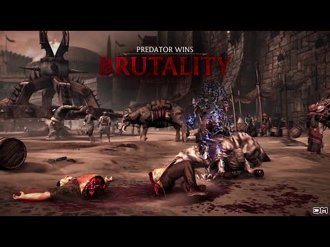 Mortal Kombat XL All Predator Fatalities, Brutalities, Secrets Brutalities X Ray & Endings