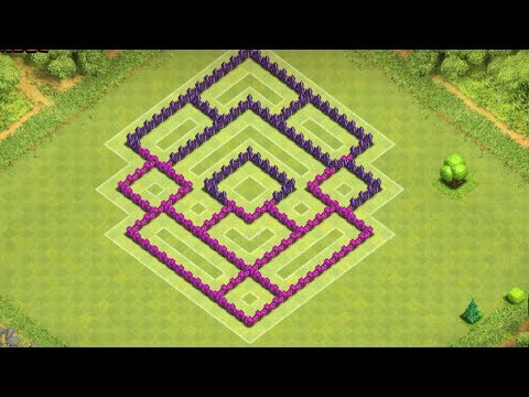 Clash Of Clans - Amazing Town Hall 7 Trophy Base (th7) !! Speed Build 2014 !