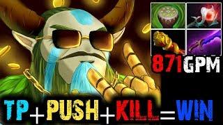 Saksa [Nature's Prophet] TP, Push Tower, Kill Enemy=Ez Game | Dota 2 Full Game