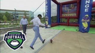 NFL Live Crew Takes Kicking Practice | Fantasy Football Marathon | ESPN