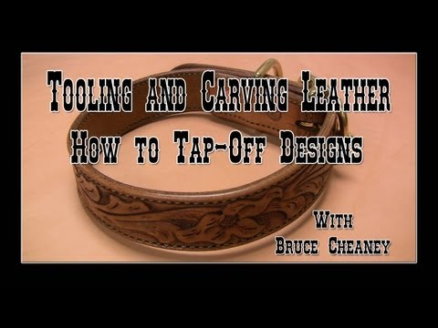 Tooling and Carving Leather How to Tap-Off  Designs