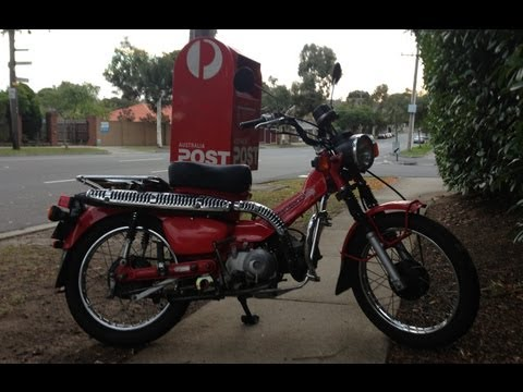 Postie Bike Review! Honda CT110! Australia Post Bike!