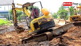Excavator Videos for Children | Excavator and Bulldozer at Work | Dance Song for Kids