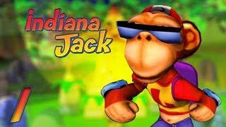 Indiana Jack (PC) - 1080p60 HD Walkthrough Level 1 - Winter Wonderland