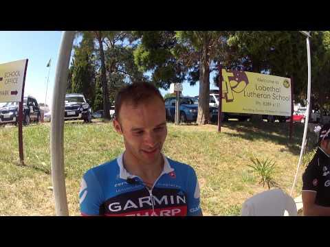 Steele Von Hoff on chasing Andre Greipel's wheel