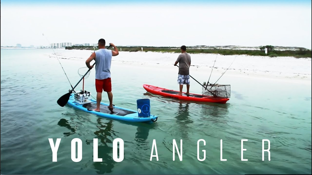 Paddle board fishing yolo angler adventure youtube for Best fishing sup