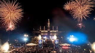 New Year's Eve 2018 and Fireworks Vienna, Austria