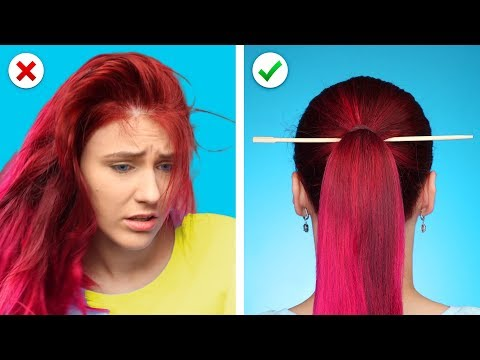Relax! And Fix it with 10 Cool and Simple Hairstyles and Hair Hacks - YouTube
