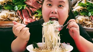 AUTHENTIC HOMEMADE VIETNAMESE BEEFY PHO NOODLE MUKBANG 먹방 EATING SHOW!