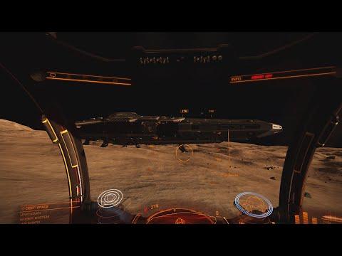 Elite Dangerous 1.5: Ships - Landed Federal Corvette viewed from an SRV