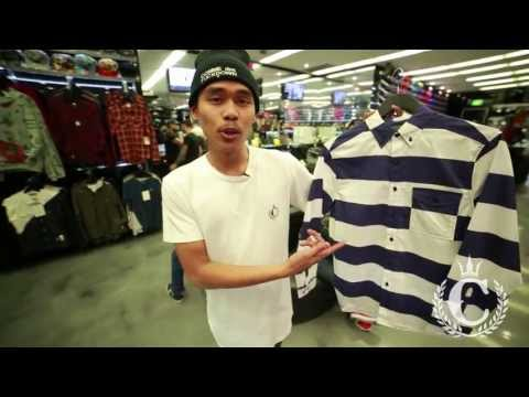 Crooks & Castles - Gang Stripe Long Sleeve Button Up Shirt (feat. Prince @ Culture Kings Sydney)