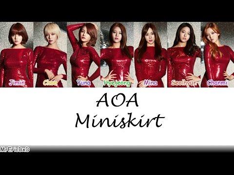 AOA (에이오에이): Miniskirt (짧은 치마) Lyrics