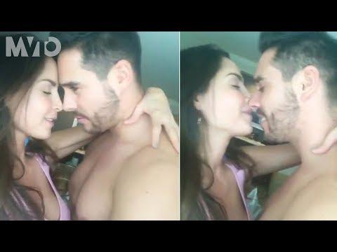 Mira el apasionado beso entre Carmen Villalobos y su novio | The MVTO