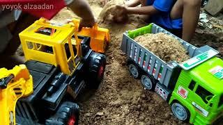 Dump truck & bego excavator loader mainan anak laki-laki toys for kids unboxing
