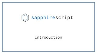 SapphireScript Introduction