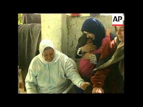 Aftermath of Israeli raids on refugee camp